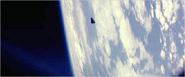 black triangle in space